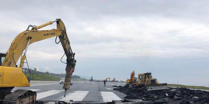 Trabzon Havalimanı'nda hummalı çalışma