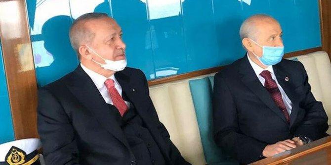 Aylar sonra ilk fotoğraf: Erdoğan ve Bahçeli açılışa gidiyor