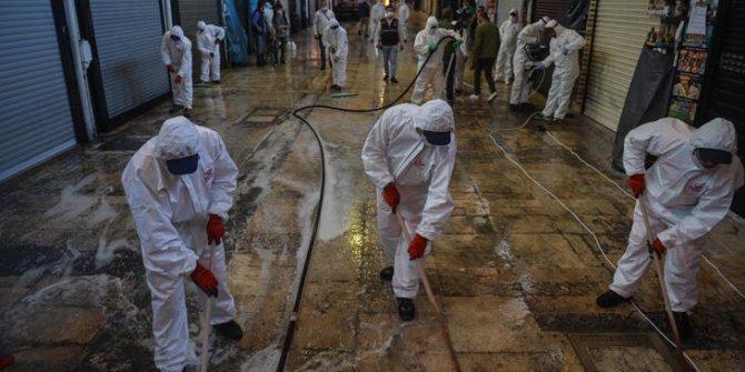 Kapalıçarşı, açılış öncesi dezenfekte edildi