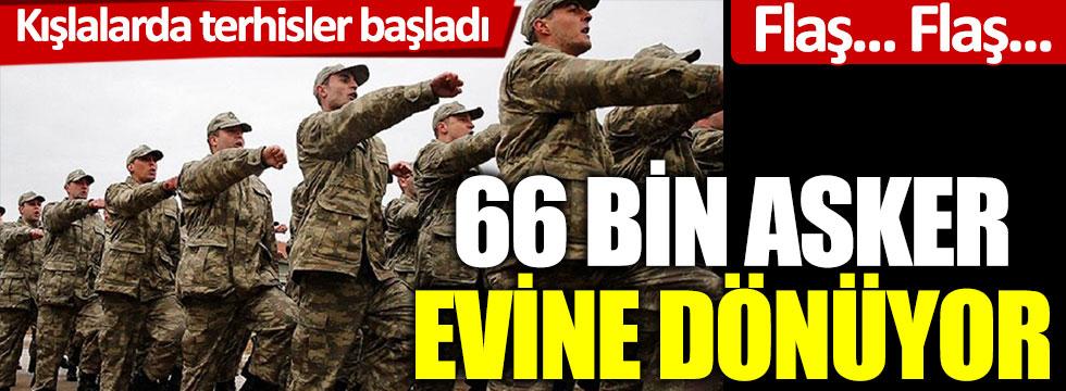 Flaş... Flaş... Kışlalarda terhisler başladı! 66 bin asker evlerine dönüyor