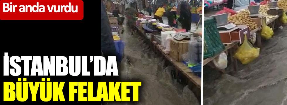 İstanbul'da büyük felaket: Bir anda vurdu