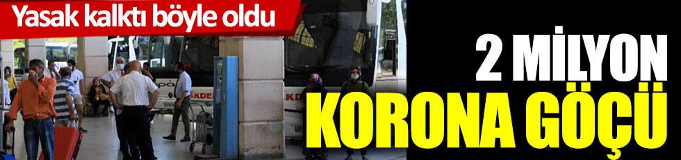 Yasak kalktı böyle oldu: 2 milyon korona göçü