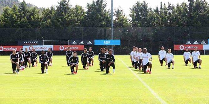Beşiktaşlı oyuncular ırkçılığa böyle tepki gösterdi