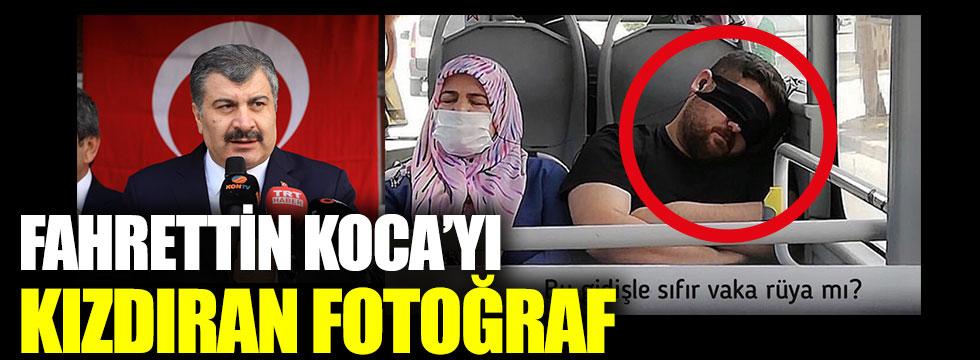 Sağlık Bakanı Fahrettin Koca'yı isyan ettiren fotoğraf