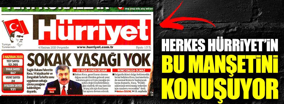 Herkes Hürriyet'in bu manşetini konuşuyor
