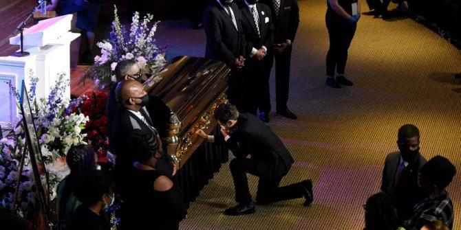 George Floyd'un cenaze töreninde dikkat çeken ayrıntı