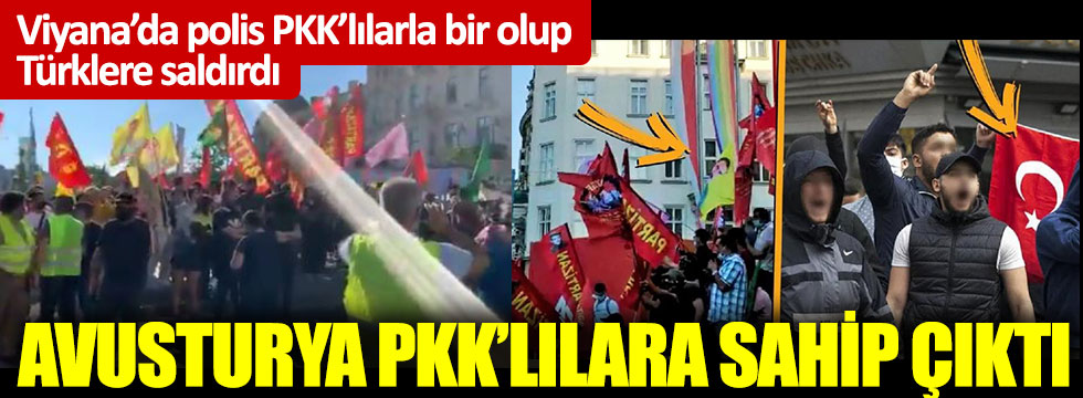Viyana'da polis PKK'lılarla bir olup Türklere saldırdı: Avusturya PKK'lılara sahip çıktı