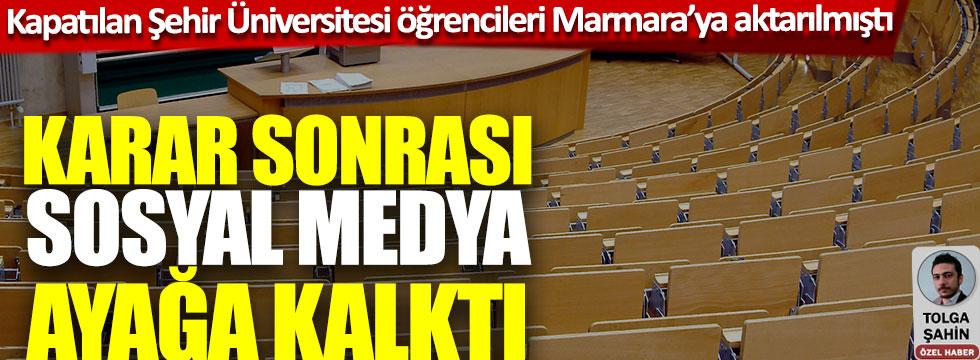 Kapatılan İstanbul şehir üniversitesi öğrencileri Marmara Üniversitesine aktarılmıştı, karar sonrası sosyal medya ayağa kalktı
