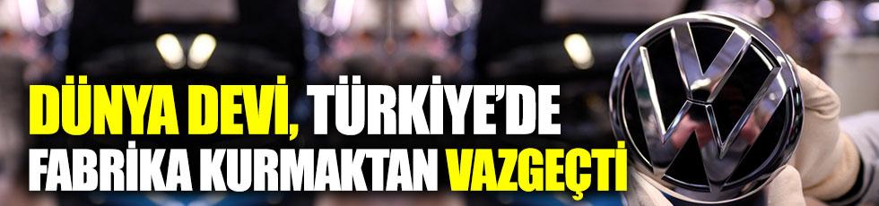 'Volkswagen, Türkiye'de fabrika kurmaktan vazgeçti' iddiası
