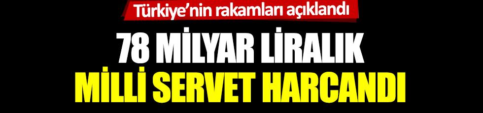 Türkiye'nin rakamları açıklandı: 78 milyar liralık milli servet harcandı