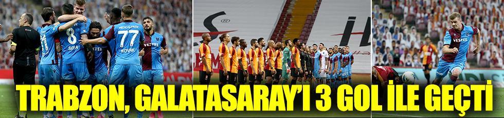 Trabzonspor, Galatasaray'ı 3 gol ile geçti