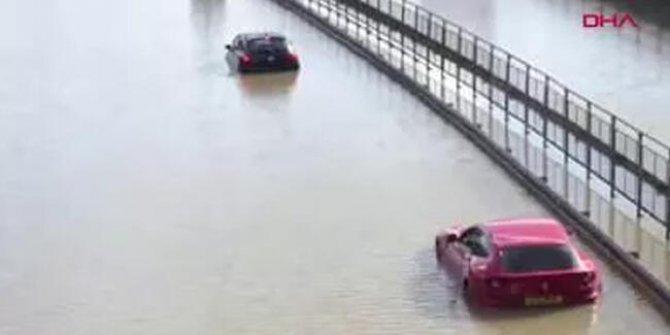 İnanılmaz görüntüler: Sokaklar göle döndü