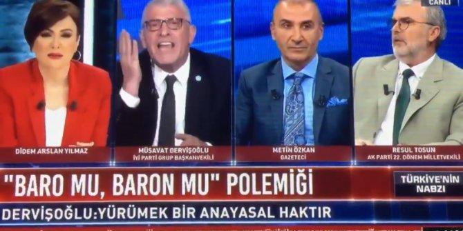 Müsavat Dervişoğlu ile Resul Tosun canlı yayında birbirine girdi!
