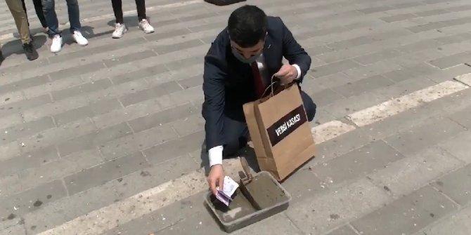 O ilde akıl dolu protesto! 'Belediye başkanı' 'gariban halk'tan aldığı parayı bakın ne yaptı?