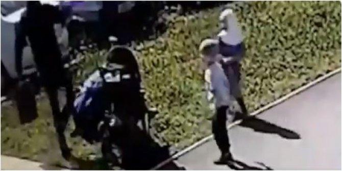 Müslüman kadına saldırı anı kameralarda