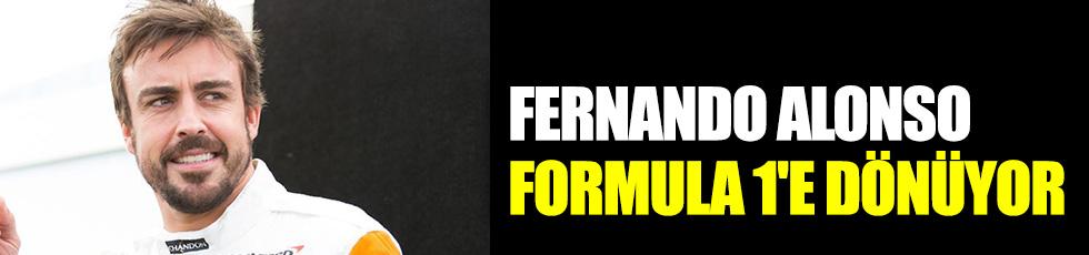 Fernando Alonso Formula 1'e dönüyor