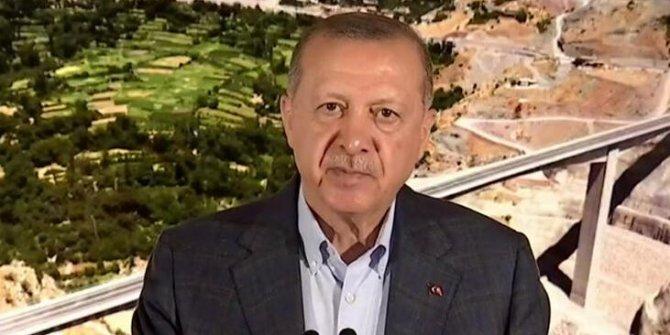 Erdoğan köprü açılışında konuştu