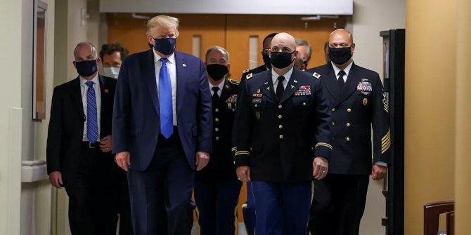 Günlük 70 bin vakanın olduğu ABD'de Trump ilk kez maske taktı!