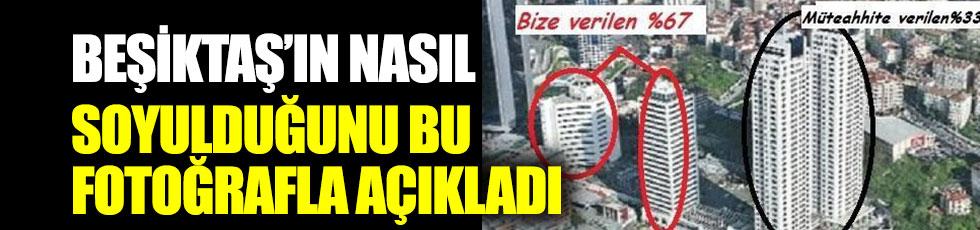 Hürser Tekinoktay, Beşiktaş'ın nasıl soyulduğunu bu fotoğrafla açıkladı