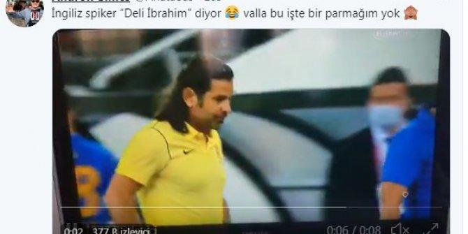 """Ankaragücü – Galatasaray maçını anlatan İngiliz spiker İbrahim Üzülmez'e """"Deli İbrahim"""" dedi ortalık karıştı"""