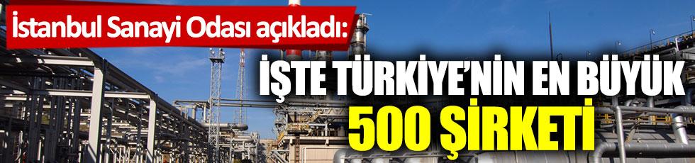 İstanbul Sanayi Odası açıkladı: İşte Türkiye'nin en büyük 500 şirketi