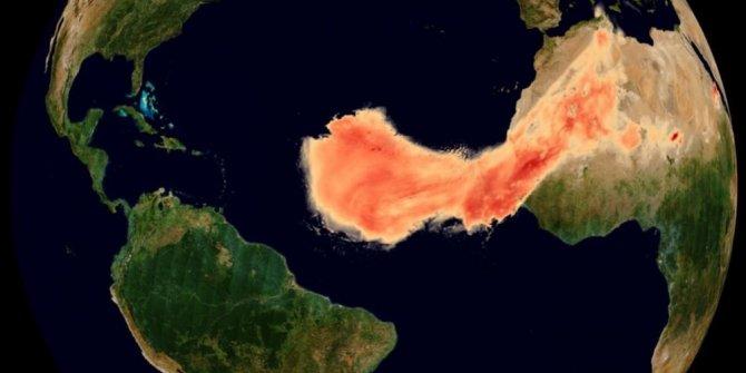 Devasa toz bulutu uzaydan görüntülendi: 8 bin kilometre yol kat etti
