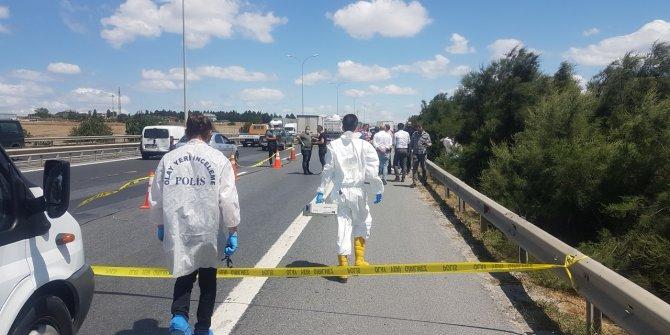 TEM'de dehşet: Poşet içinde ceset parçaları bulundu