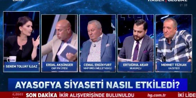 CHP'li Erdal Aksünger canlı yayını terk etti, Haber Global spikeri bu kez isyan etti