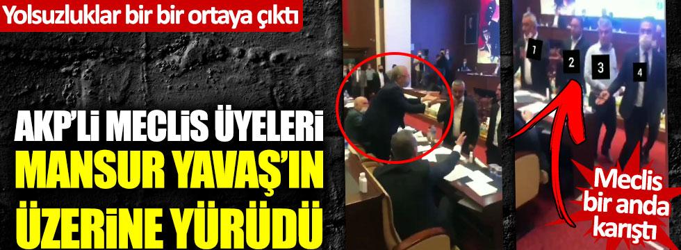 Yolsuzluklar bir bir ortaya çıktı, AKP'li meclis üyeleri Mansur Yavaş'ın üzerine yürüdü