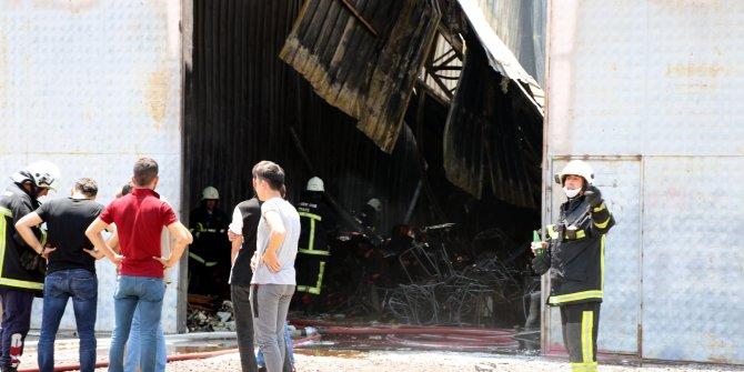 Kayseri'de ambalaj fabrikasında yangın