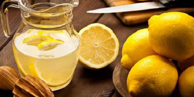 Kilo verdiren sirkeli ve limonlu detoks tarifi