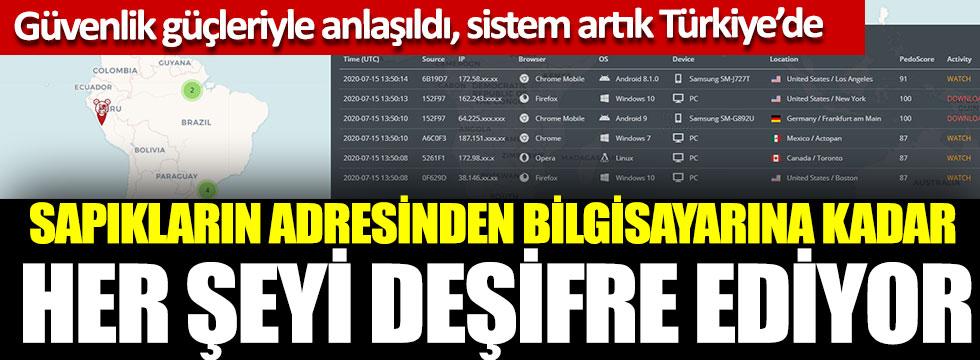 Güvenlik güçleriyle anlaşıldı sistem artık Türkiye'de, Sapıkların adresinden bilgisayarına kadar her şeyi deşifre ediyor