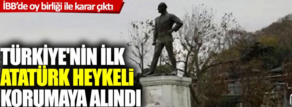 Türkiye'nin ilk Atatürk heykeli korumaya alındı