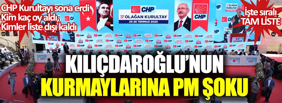 CHP Kurultayı sona erdi: Kılıçdaroğlu'nun kurmaylarına Parti Meclisi şoku!