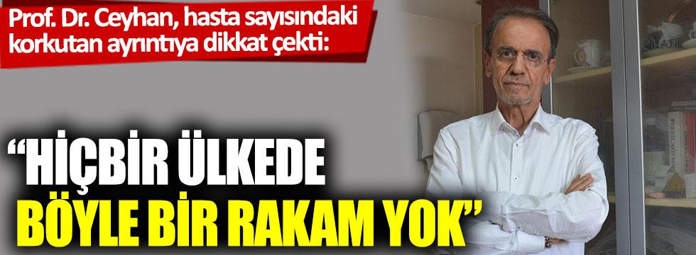 """Prof. Dr.Mehmet Ceyhan, hasta sayısındaki korkutan ayrıntıya dikkat çekti: """"Hiçbir ülkede böyle bir rakam yok"""""""