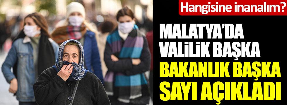 Malatya'da Valilik başka, Sağlık Bakanlığı başka sayı açıkladı! Hangisine inanacağız?