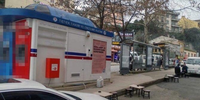 Trabzon'da bebek emzirme kabininde büyük skandal