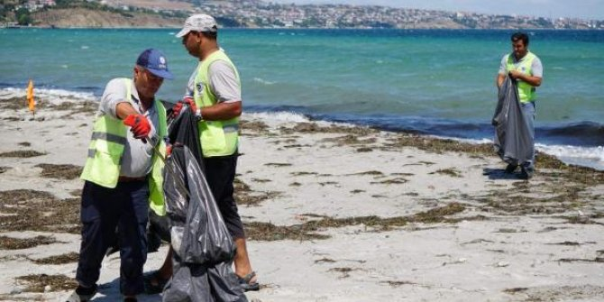 Çocuk bezlerini kuma gömdüler: Bu kadar da olmaz ki