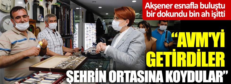 Meral Akşener, Nevşehir'de esnafla buluştu: Bir dokundu bin ah işitti