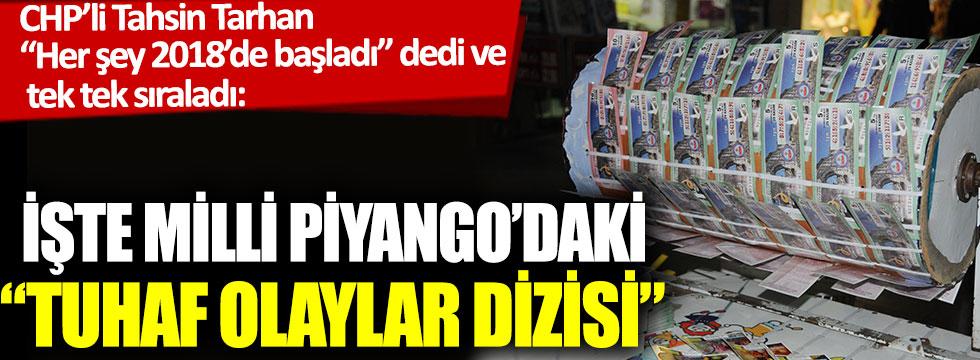"""İşte Milli Piyango'daki """"Tuhaf olaylar dizisi"""": CHP'li Tahsin Tarhan tek tek sıraladı"""