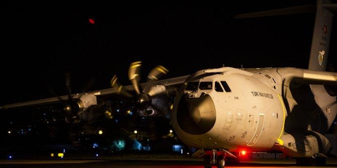 TSK'ya ait yardım uçağı Beyrut'ta