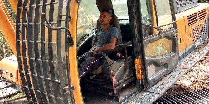 İş makinesi ile uçuruma sürüklenen şoför hayatını kaybetti