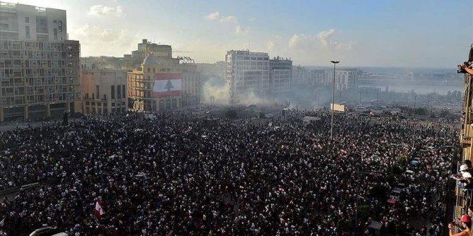Beyrut'taki protestoların bilançosu: 1 ölü, 238 yaralı