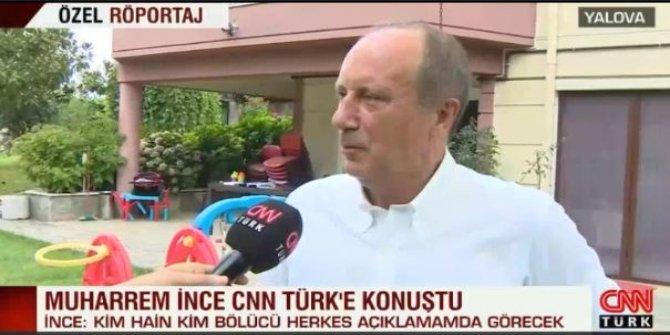 Muharrem İnce, CHP'nin CNN Türk boykotunu deldi