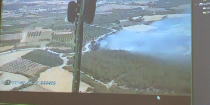 Çanakkale'de, tarım arazisinde yangın