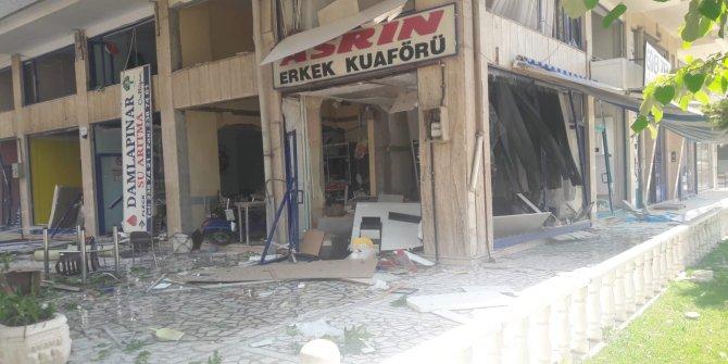 Konya'da bir sokakta doğalgaz patlaması