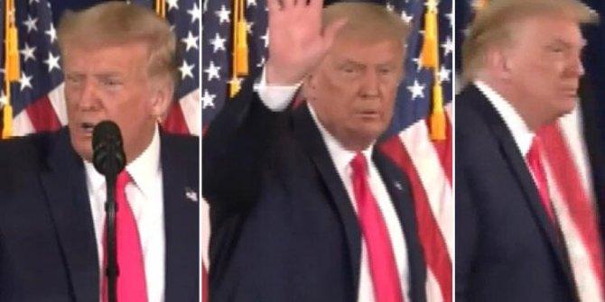 Trump çıldırdı... Kürsüyü terk etti