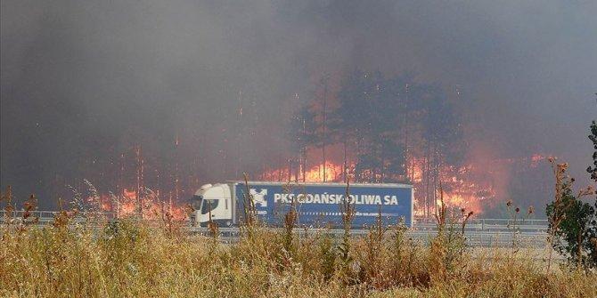 Bulgaristan sınırındaki yangın kısmen kontrol altında