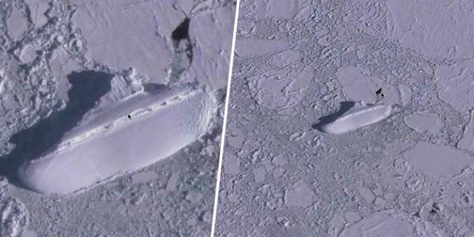Nuh'un gemisi olabilir! Tamamı buzla kaplanmış