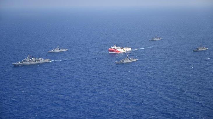 Oruç Reis Akdeniz'de görev başında! Yüreği olan yaklaşsın